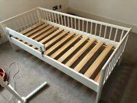 Ikea white children's bed