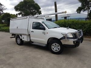 2011 Toyota Hilux KUN26R MY12 SR (4x4) White 5 Speed Manual Moorebank Liverpool Area Preview