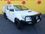 2012 Toyota Hilux KUN26R MY12 SR Double Cab White 5 Speed Manual Utility Winnellie Darwin City Preview