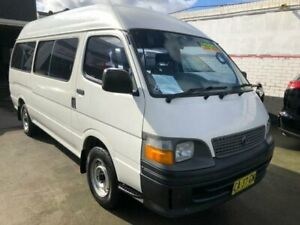 2002 Toyota HiAce RZH125R Commuter White 4 Speed Automatic Bus Granville Parramatta Area Preview