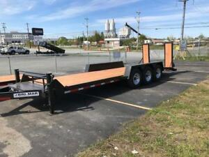 Brimar EH-24-23, 24' H.D. Low Pro Triaxle Equipment Trailer 2018