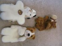 Faithful Friends Collectables Plush Animal Puppets x 3