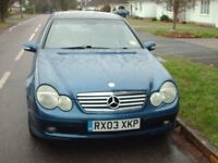 AUTOMATIC MERCEDES C180,3DOOR,2003