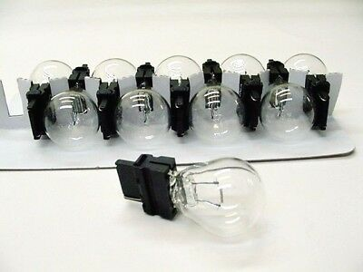 Globe Park Lamp - Ford Box of 10 Globes 3156 Incandescent BackUp Reverse Parking Light Bulbs Lamps