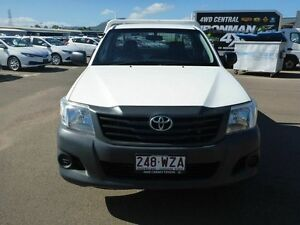 2011 Toyota Hilux TGN16R MY12 Workmate White 5 Speed Manual Cab Chassis Vincent Townsville City Preview