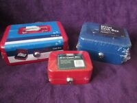 "CASH BOX'S VARIOUS SIZES Small 4 1/2"" & Medium 6"" & Large 8"" NEW"