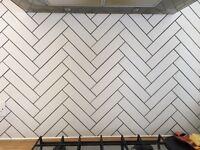 white rectangular tiles 260mm x 60mm