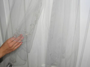Beautiful Delicate Veil with Hand Sewn Beads!!