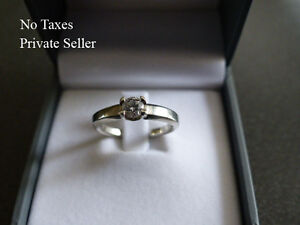 Private Sale High Qualty 19K White Gold .32ct Diamond Engagement