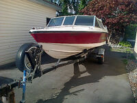 16 1/2 ft inboard/outboard Silverline boat and trailer