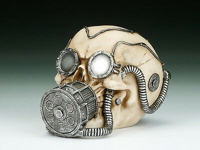 Skeleton Gas Mask (Skull with Gas Mask Figurine Statue Skeleton)