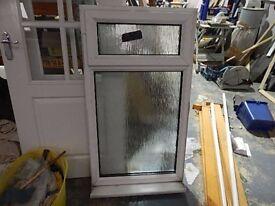 Upvc double glazed window with frosted glass