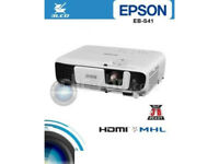 Brand New Epson EB-S41 SVGA 3300 lumens Projector - White - Boxed