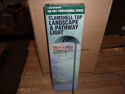 Top Landscape Light - Lot of 6 Clamshell Top Landscape Pathway Light Incandescent NEW Black case