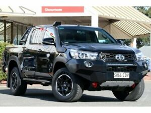 2019 Toyota Hilux GUN126R Rugged X Double Cab Eclipse Black 6 Speed Sports Automatic Utility Christies Beach Morphett Vale Area Preview