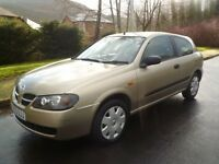 2003 53 Nissan Almera 1.5 Petrol. Only 62,000 Miles. Lovely Drive. An Ideal Little Runabout