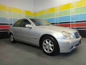 2003 Mercedes-Benz C200 W203 Kompressor Elegance Silver 5 Speed Auto Tipshift Sedan Wangara Wanneroo Area Preview