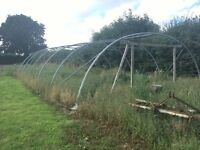 Commercial Grade Used Poly tunnel framework, Not small !