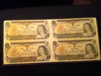 Collectable currency Canadian bills