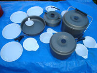 Complete Camping Cookset ( Pots, Pans, Kettle, Plates ) - New and Boxed