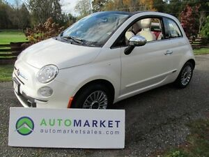 2014 Fiat 500 New Cond, Cabrio, Lounge, 5Sp, Warr