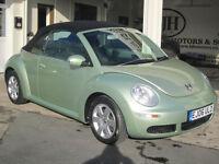 2006 Volkswagen Beetle 1.6i Cabriolet Stunning Condition - Metallic Gecko Green