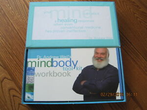 MIND BODY TOOL KIT Dr. Andrew Weil's Kit Book Cards & CD's