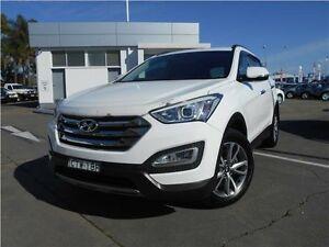 2014 Hyundai Santa Fe DM MY14 Elite White 6 Speed Sports Automatic Wagon Hamilton East Newcastle Area Preview