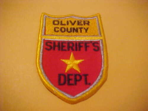 OLIVER COUNTY  NORTH  DAKOTA POLICE PATCH SHOULDER SIZE NEW  TYPE 1
