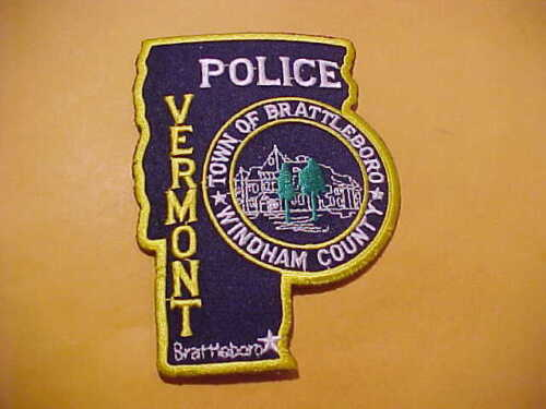 TOWN OF BRATTLEBORO VERMONT POLICE PATCH SHOULDER SIZE UNUSED