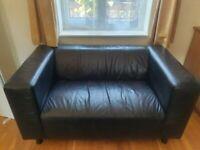 black designer real leather sofa set (can deliver)