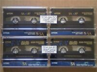 JL 4 VERY RARE TDK SA 50 SUPER AVILYN CHROME CASSETTE TAPES 1994-1997 & 1997-2002 JOB LOTS OR SOLO'S
