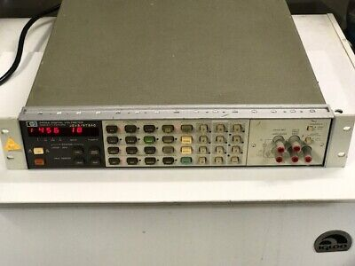 Hp 3456a Digital Voltmeter  Lights Up  Untested
