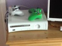 X-Box, 2 Controllers and 2 Games