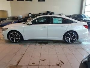 2018 Honda Accord Sport - B/U+RightSide Cam, Sunroof, Heated Sea