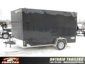 "ONTARIO TRAILERS SINGLE AXLE 7' X 12'+30"" V-NOSE MUSTANG SE"