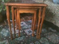 A set of three tables