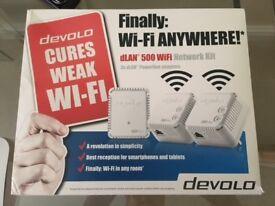 WIFI NETWORK KIT - DEVOLO DLAN 500 POWERLINE ADAPTERS