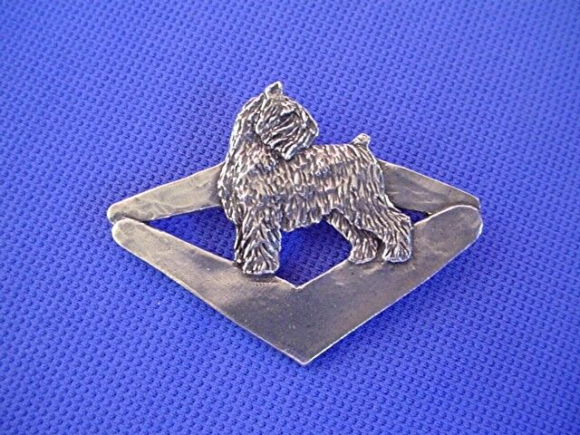 Bouvier des Flandres abstract pin #43K Pewter Dog Jewelry by Cindy A. Conter
