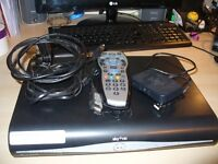 SKY HD Box, SKY Multi Room & SKY mini wireless booster & 2 remotes & cables