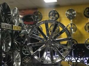 MAGS CHROME CADILLAC ESCALADE CHEVROLET TAHOE YUKON TOYOTA TACOMA 24'' CHROME NEUFS / ENSEMBLE AVEC PNEUS DISPONIBLE