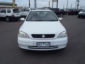 2001 Holden Astra White Automatic Hatchback