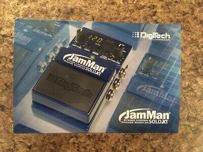 New Digitech JamMan Solo XT Stereo Looper Phrase Sampler Pedal