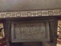 Victorian Cast Iron Tiled Insert Fireplace
