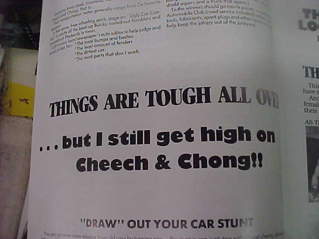 THINGS ARE TOUGH ALL OVER. uncut 24pg prbk [Cheech Marin, Tommy Chong]