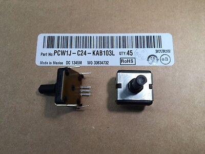 5 Pcs Pcw1j-c24-kab103l Bourns 10k Ohm 1-gang 1-turn Panel Potentiometer