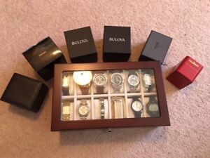 Watch Collection Display Case and Accessories