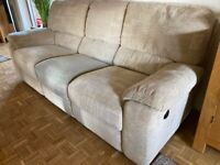 Reclining Sofas and Chair - 1 Reclining Chair - 2x 3 Seater Sofa