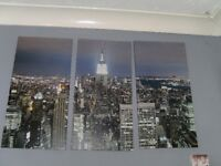 4 New York Pictures & Cushion