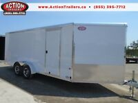 EASY ACCESS ALL ALUMINUM 7 X 18' + V-NOSE TRAILER -BUILT TO LAST